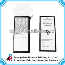 Diseño de caja de perfume personalizado vacío pequeño creativo de papel vacío de embalaje