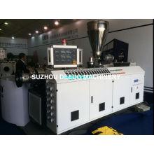 Chaîne de production de tuyau de double vis de PVC