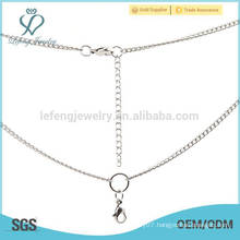 Popular women female fashion gold thin chains necklaces,silver necklace chains bulk