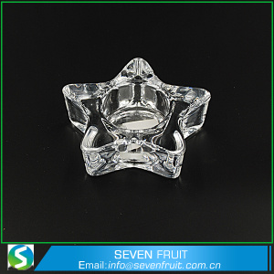 Glass Star Shape Gift Wholesale Crystal Candle Holder