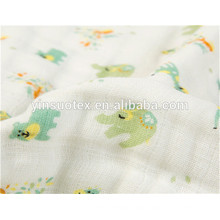flower organic cotton AB 100% muslin for new baby