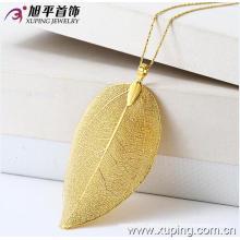 Colgante de aleación de joyería de moda Xuping 24k oro Fancy con Plant One Leaf en forma de 31940