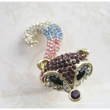 So Cute Fox Finger Ring Paved With Rhinestone Jewelry FR19