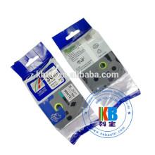 Ruban Tz 345 compatible avec les étiquettes, blanc sur noir, pour utilisation avec une imprimante d'étiquettes