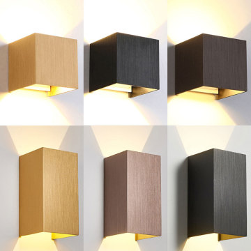 Goldenes Quadrat Modernes Wandlicht Interieur Outdoor
