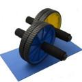 Roues jumelées de Ab pour Abs abdominale rouleau d'entraînement exercice fitness bleu