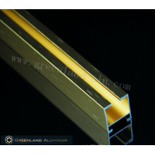 Aluminum Curtain Track Profiles with Brushed Gold Color