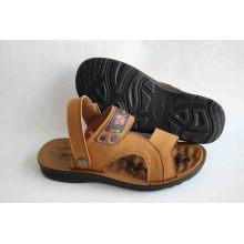 Sandale de plage confortable et doux pour hommes avec semelle en latex (SNB-14-007)