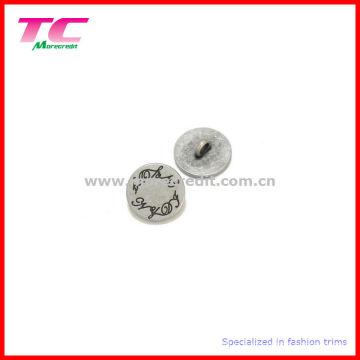 Logo gravé économique Bouton de tige en métal rond plat