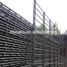 Valla de alambre horizontal soldada con autógena / panel doble de la cerca del alambre gemelo revestido del Pvc 868/656