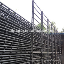 Welded Double horizontal wire fence / Pvc coated twin wire 868/656 fence panel