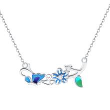 Новый дизайн классического колье с запеченные фарфора цветок и Алиса моды ожерелье