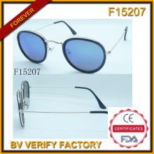 Neue Runde Rahmen Sonnenbrillen mit kostenlose Probe (F15207)