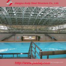 China Vorgefertigte Schwimmbad Schwimmen Abdeckung von Stahl Space Frame gemacht