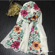 Fashionable Comfortable Pretty china shawl new fashion lady cotton embroidery scarf