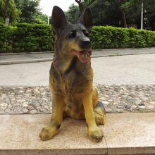 Décoration artisanale de gros chien en résine grandeur nature