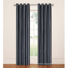 Rideaux de fenêtre 100% polyester noir