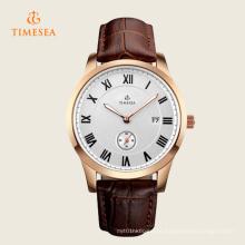 Mens de quartzo analógico original impermeável relógio de pulso 72343