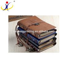 Customized Size Creative Travelers Notebook,Custom School Leather Paper Notebook