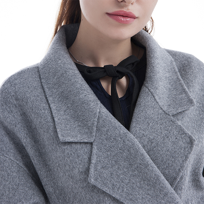 New styles gray cashmere winter coat