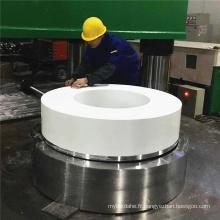 Diamètre 800mm bloc PTFE vierge grande douille en plastique d'ingénierie