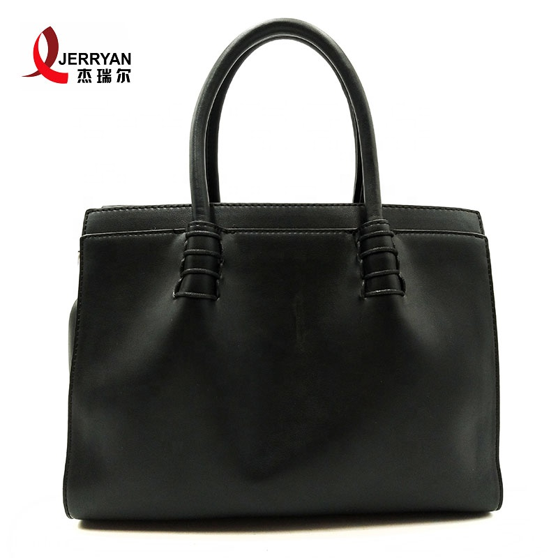 black shopper tote bag