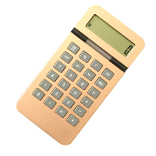 Calculatrice de 10 chiffres calculatrice de poche de surface en aluminium