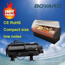 commecial congélateur pièces r22 r404a horizontal compresseur rotatif pour appareils de réfrigération supermarché