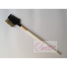 Wood Handle Bristle Hair Eyebrow Comb Brush