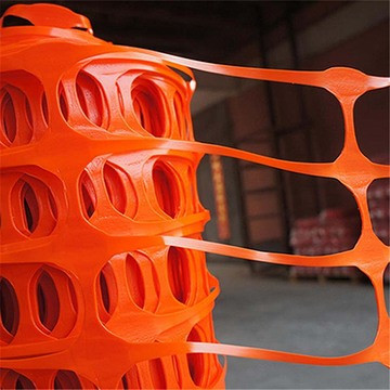 Filet de sécurité en plastique orange pour construction