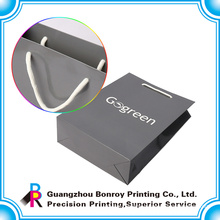 Guangzhou printing supplier for small shopping gift paper bag with luxury handle