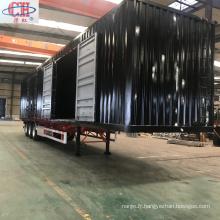 Semi-remorque à conteneurs de masse totale personnalisable de 40000 kg