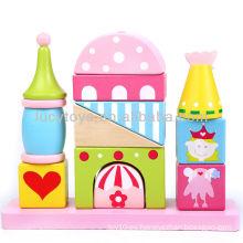 El castillo bloquea los juguetes educativos del clasificador del shap para los cabritos