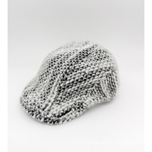Winter Knitted Black and White IVY Cap (YS002)