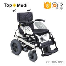 Cadeira de rodas elétrica desabilitada de luxo com estrutura de aço