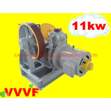 Máquina de tração Motor engrenado elevador VVVF
