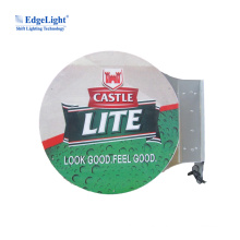 Custom China Manufacturer Handing Type Double Side Round Led Lightbox Sign
