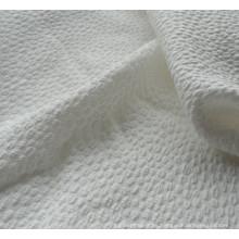 peso ligero spandex jacquard burbuja la tela para el vestido de la señora