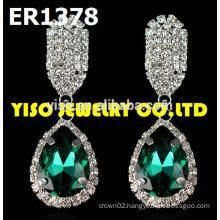 custom made rhinestone earrings