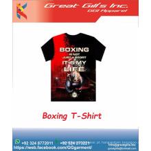 Camiseta personalizada 100% algodão com impressão masculina de alta qualidade com preço de atacado