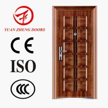 Египет Стальная дверь безопасности Дерево Цветная дверь комнаты