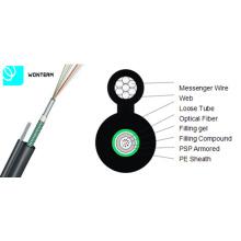Gyxtc8s 2 ~ 24 Cores Cable de fibra óptica Tubo central Figura 8 Cable de auto-soporte