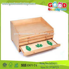 2015 Popular Toys Botany Leaf Cabinet With Insets, Wooden Kids Toys Montessori