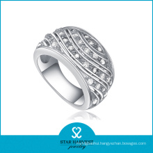 High Quaility Prong Setting 925 Sterling Silver Ring (R-0087)