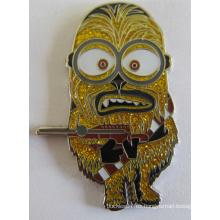 Insignia de metal de níquel por encargo para el personaje de los minions (badge-190)