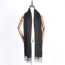 chal de bufanda de lana unisex de color negro para invierno