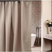 Hotel Badezimmer Dobby Waterproof Verarbeitung Polyester Duschvorhang (WSSC-2016006)