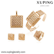 64005 Xuping nuevos conjuntos de boda chapados en oro diseñados