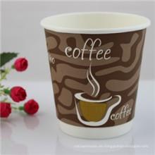 Gewohnheit druckte Papierkaffeetassen-doppel-wandige Papierschalen-Nahrungsmittelgrad