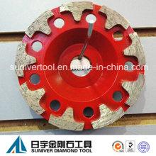 Diamant Schleifen Cup Räder Werkzeuge zum Schleifen von Beton und Stein